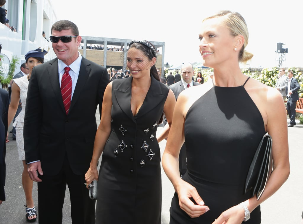 James and Erica Packer with Sarah Murdoch.