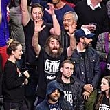 Olivia Wilde, Jason Sudeikis, and Will Forte Clippers Game