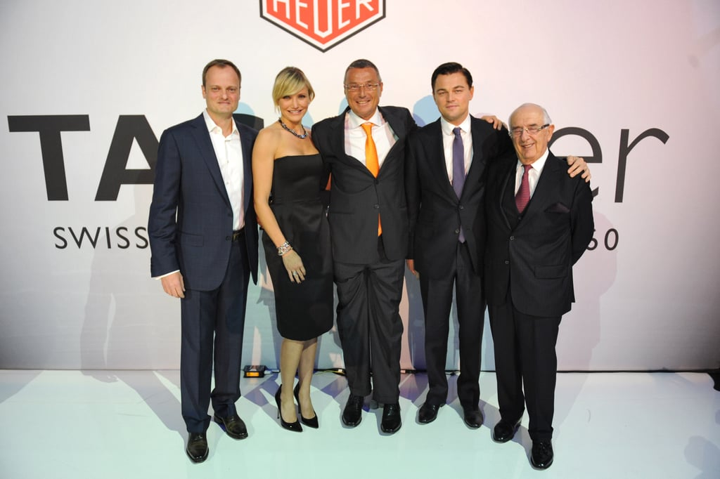 Ulrich Wohn, Cameron Diaz, Jean-Christophe Babin, Leonardo DiCaprio, and Jack Heuer attended a NYC gala benefiting UN Women and New York Cares's Sandy relief effort.