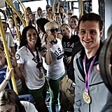 US athletes filled a double decker bus in London. Source: Instagram user todayshow