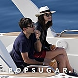 Keira Knightley and James Righton enjoyed the open water.