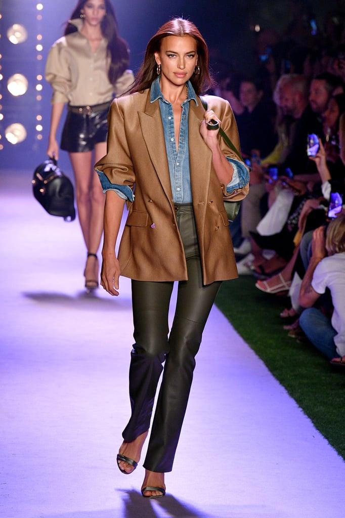 Irina Shayk on the Brandon Maxwell Runway at New York Fashion Week