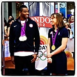 Swimmers Cullen Jones and Katie Ledecky stopped by Today for a chat.  Source: Instagram user todayshow