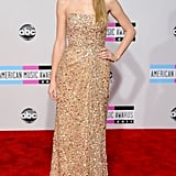 2011: Taylor Was Absolutely Golden on the Red Carpet