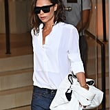 It Was Simple Yet Chic, and She Completed Her Look With Black Sunglasses
