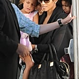 Halle Berry accompanied Nahla Aubry to Yo Gabba Gabba in LA.