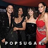 Pictured: Evan Ross, Diana Ross, Rashida Jones, and Tracee Ellis Ross