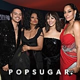 Pictured: Evan Ross, Diana Ross, Rashida Jones, and Tracee Ellis Ross