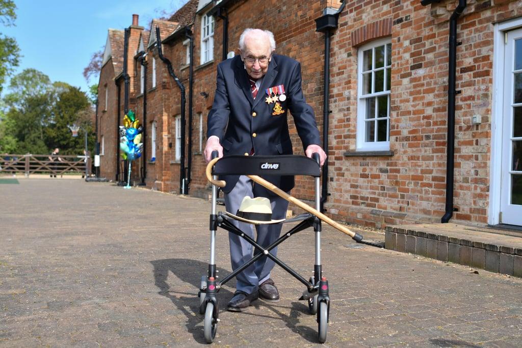 WWWII Veteran Tom Moore Raises Over £30 Million for NHS