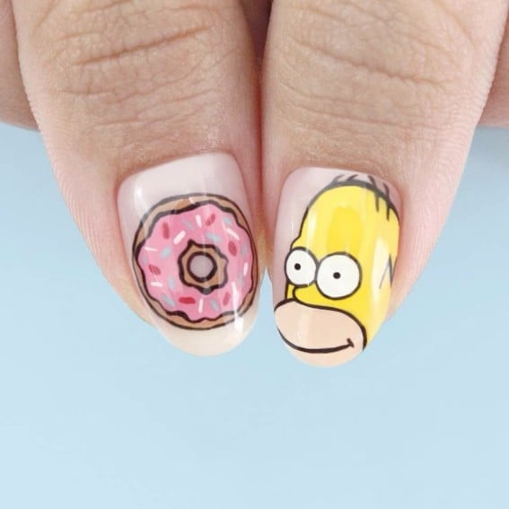 These Simpsons Manicures Are a Much Better Idea Than Homer's Makeup Gun