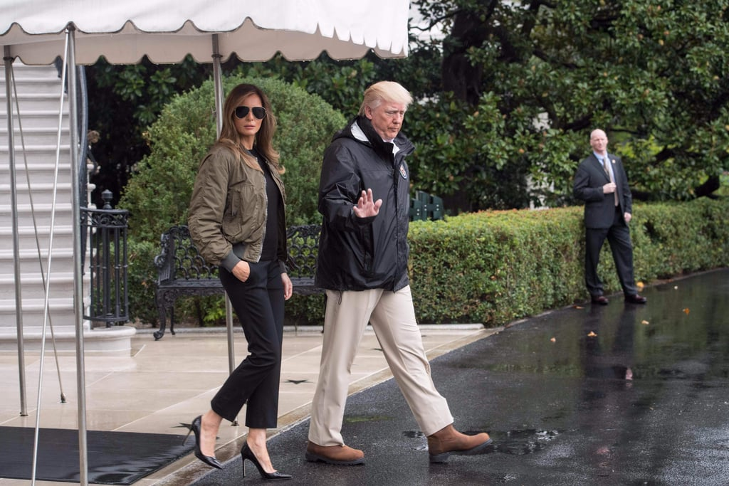Melania Trump Wears Heels to Texas For Hurricane Harvey
