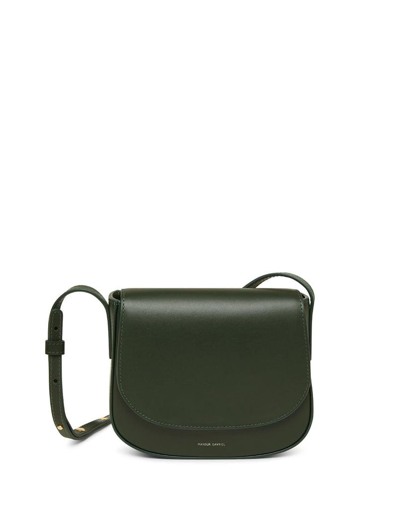 Mansur Gavriel Mini Flap Leather Crossbody Bag