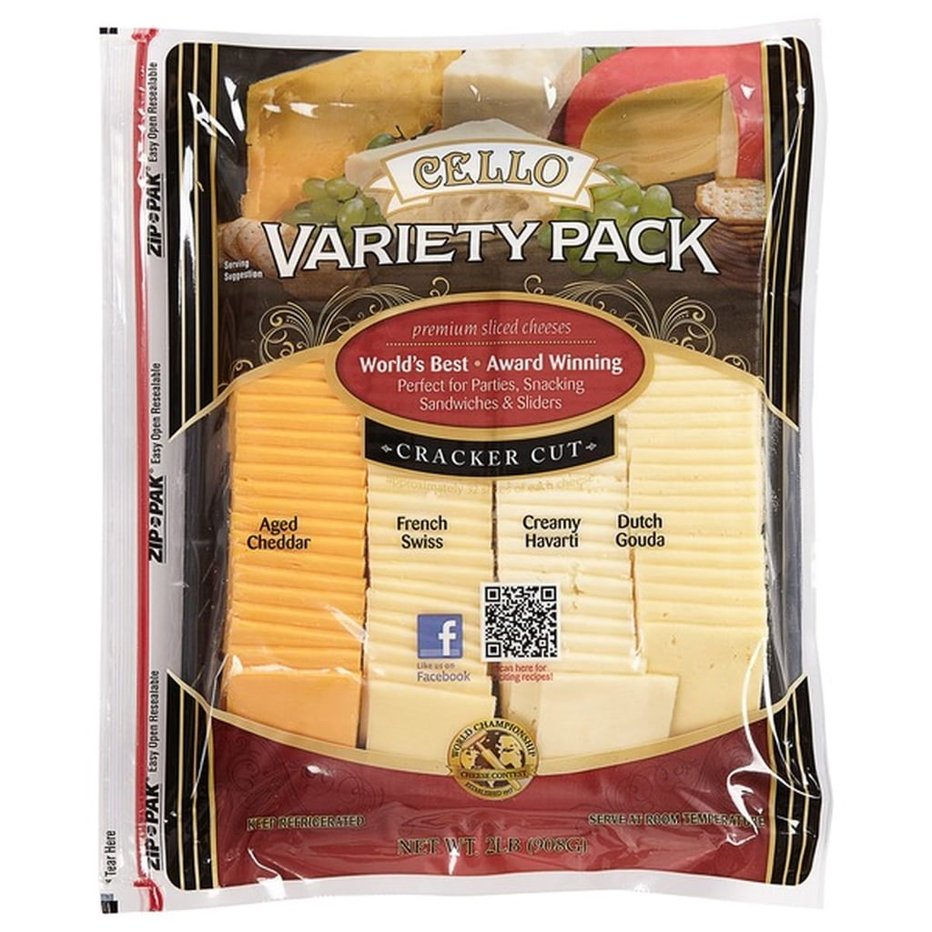 Cello Cracker Cut Cheese Slices Variety Pack