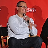 Matt Damon laughed at the screening of Promised Land in NYC.