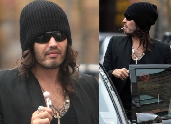 Photos Of MTV Video Awards Host Russell Brand Outside His London Home