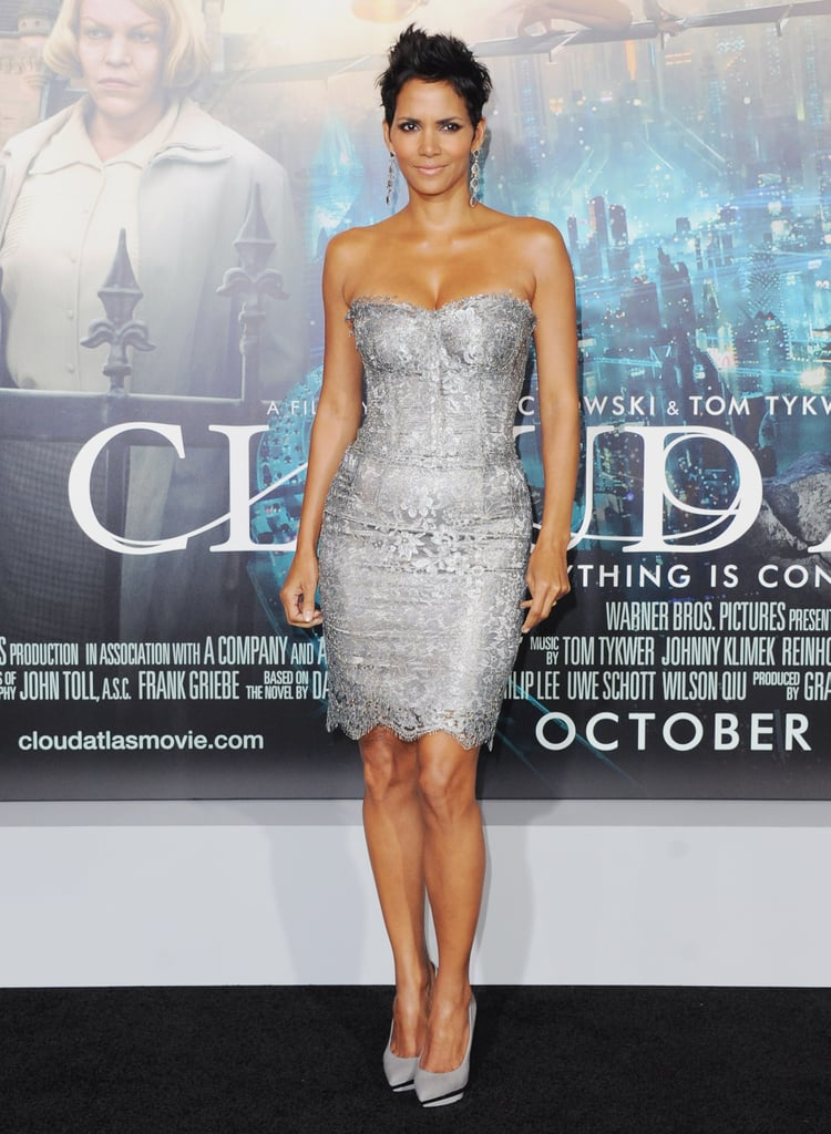 Halle Berry simply glistened in a silver Dolce & Gabbana dress at the October premiere of Cloud Atlas.
