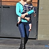 January Jones Dyes Her Hair Brown | Pictures