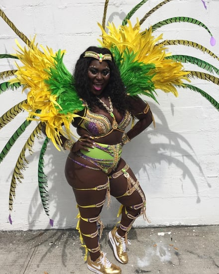Danielle Brooks Spent Her Labor Day Weekend in Feathers and Rhinestones (and Not Much Else)