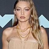 Gigi Hadid's Gold Makeup Look