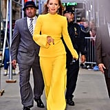 Those pantsuits just make her look even taller!