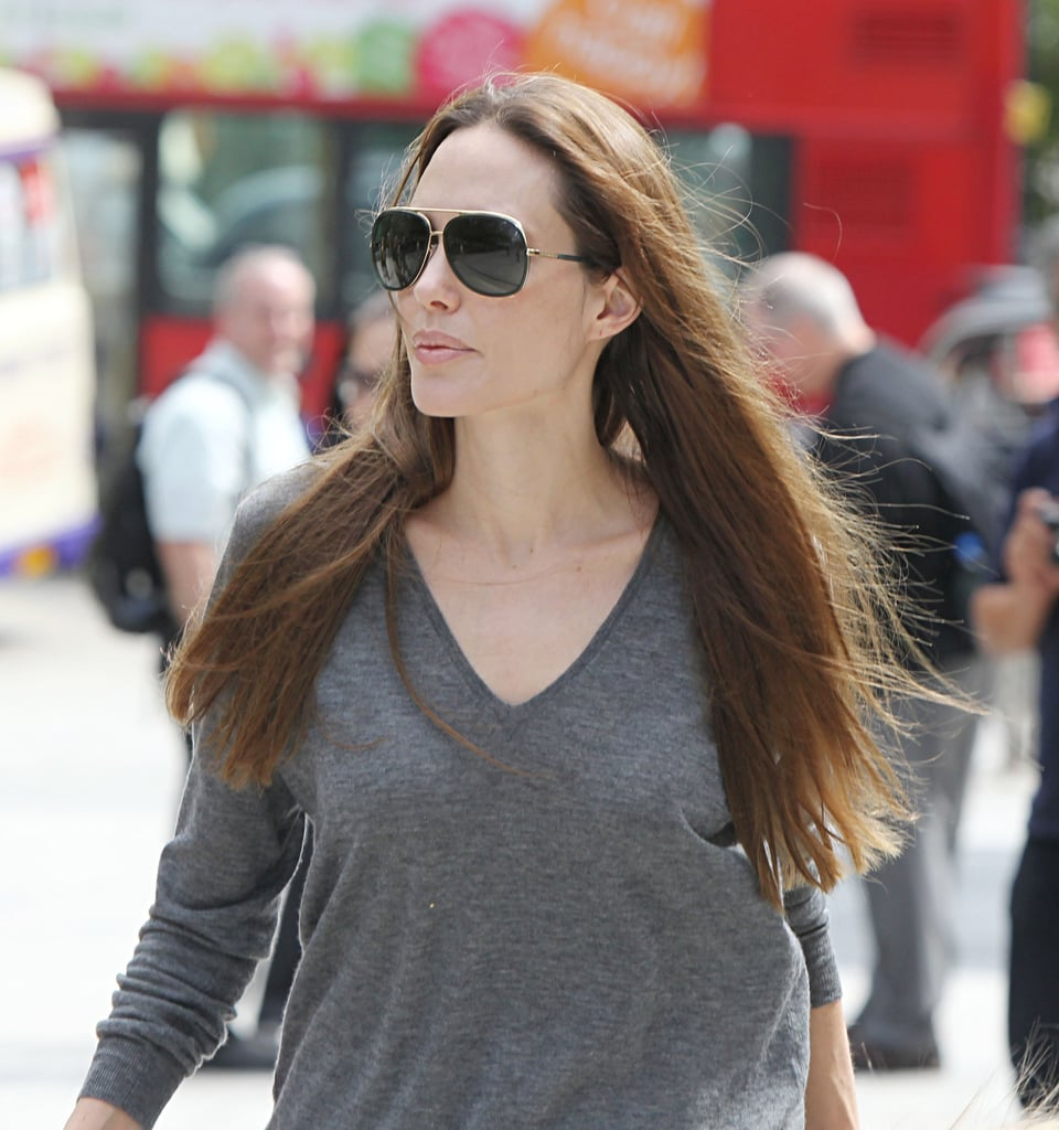 Angelina Jolie hangs out in Lodon.