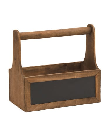 Small Stained Wood Organizer With Handle ($13)