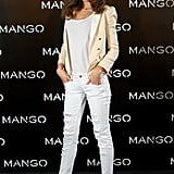 Miranda Kerr was announced as the new face of Mango in Madrid.