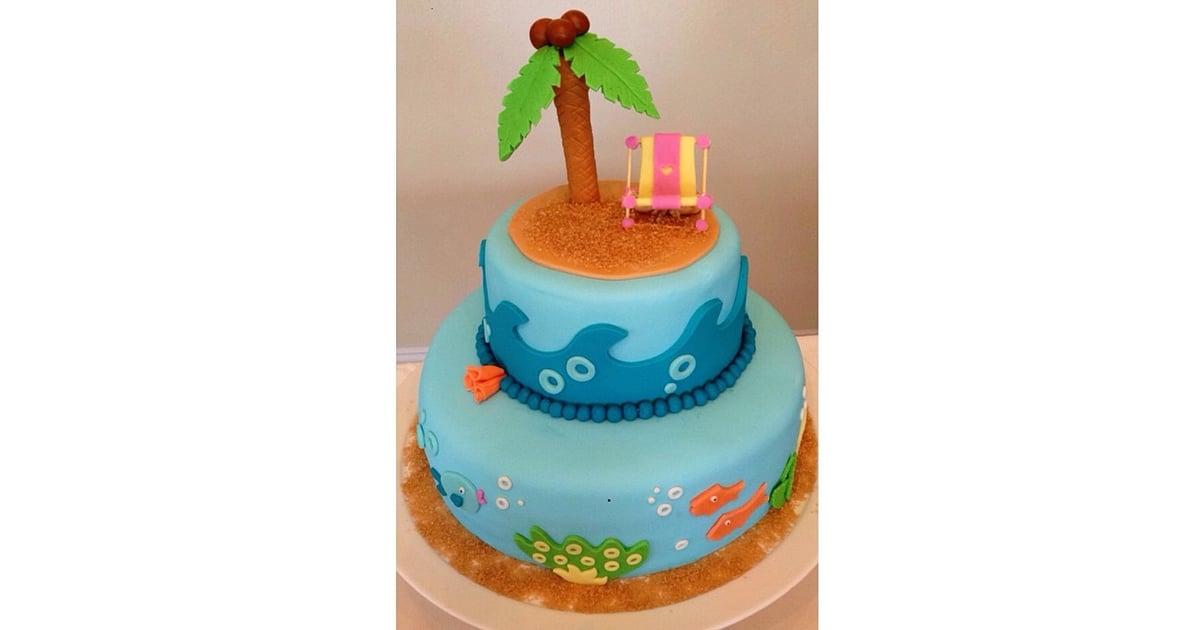 Palm Tree Tot Summer Birthday Cakes Popsugar Family Photo 18
