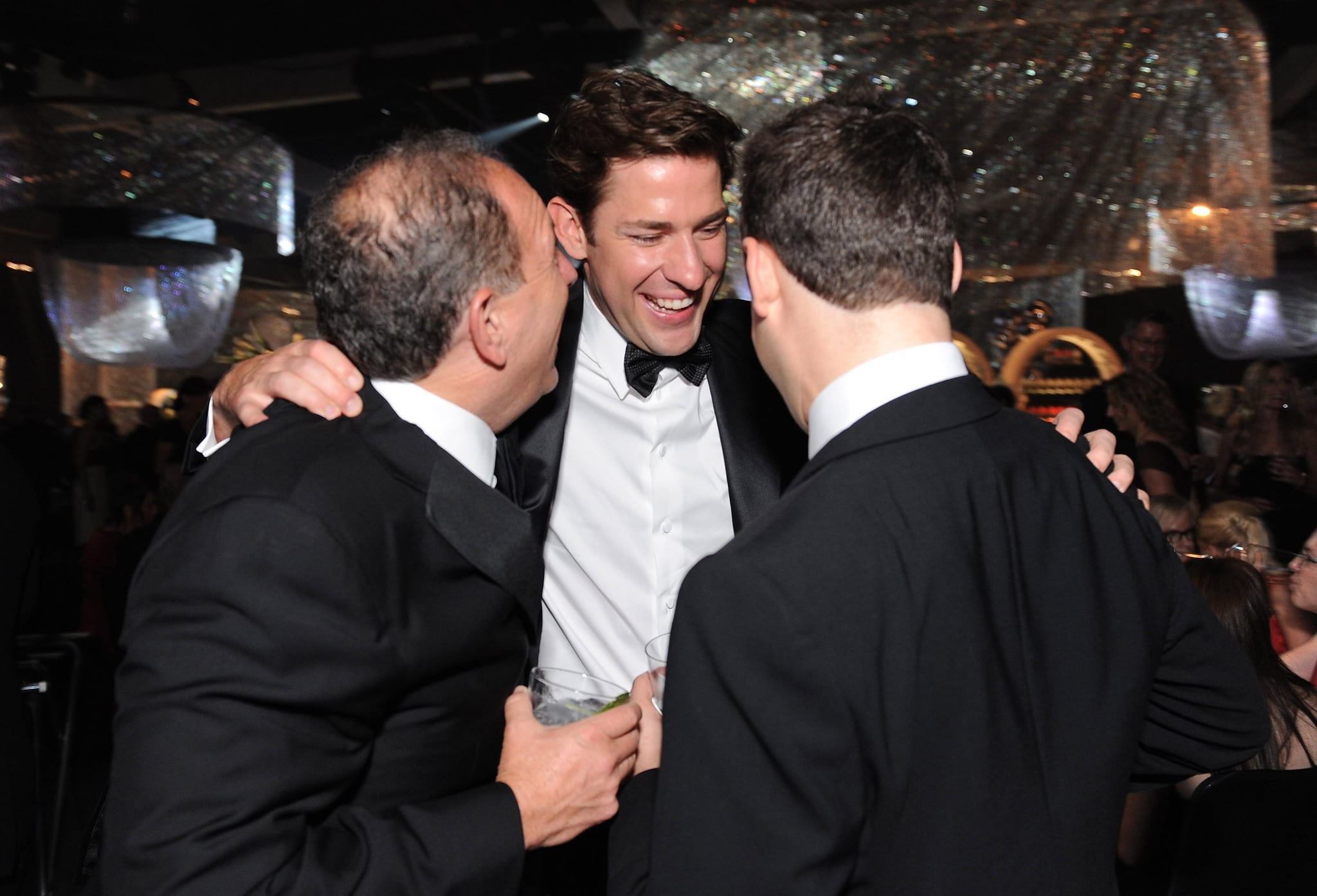 John Krasinski jokes with friends.