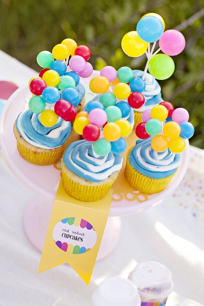 Balloon Cupcakes Up Birthday Party Ideas Popsugar Moms