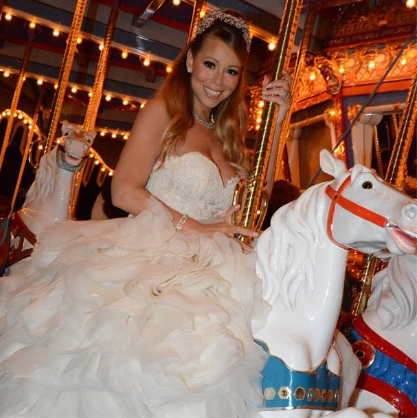 Mariah Carey rode a merry-go-round during her reception. Source: Instagram user mariahcarey