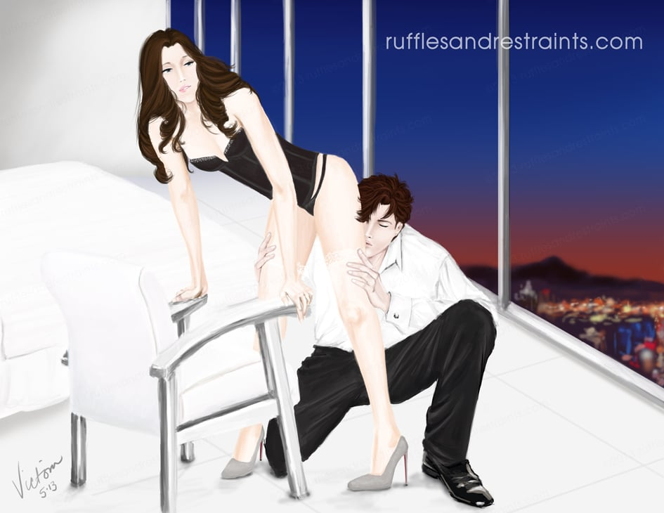 Fifty Shades of Grey Fan Art Ruffles and Restraints