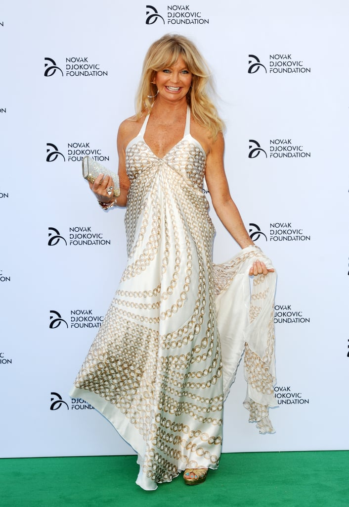 Goldie Hawn also attended the gala dinner in London.