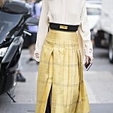 Think Simple —Tuck a Blouse Into a Midi Skirt and Slip Into Flats