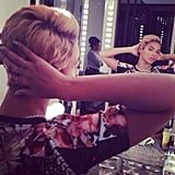 Beyoncé shocked everyone when she lobbed off her long, signature curls into a short pixie cut in August.  Source: Instagram user beyonce