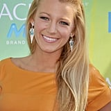 This pinkish shade that Blake wore to the 2011 Teen Choice Awards was an interesting contrast against her goldenrod outfit.