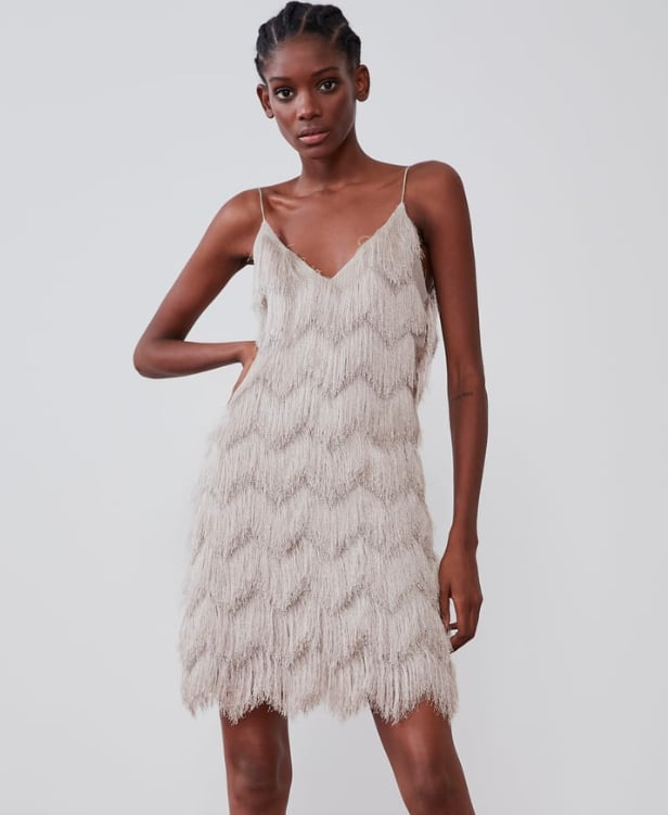 Zara Silver Fringed Dress