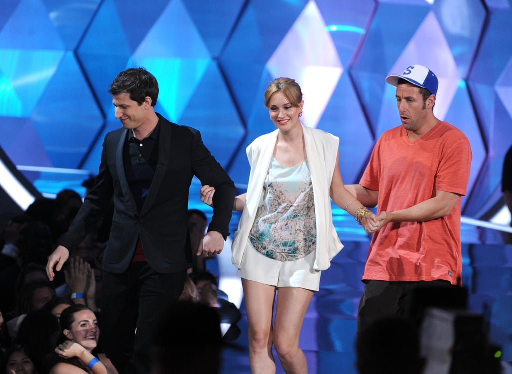 That's My Boy stars Andy Samberg, Leighton Meester, and Adam Sandler shared the spotlight during the show.