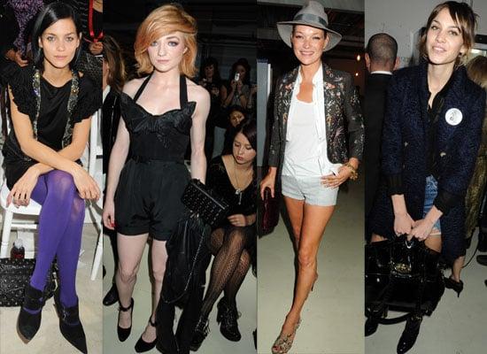 2010 Spring London Fashion Week Front Row