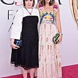 Lena arrived with jewelry designer Irene Neuwirth, who's nominated for a CFDA Award.