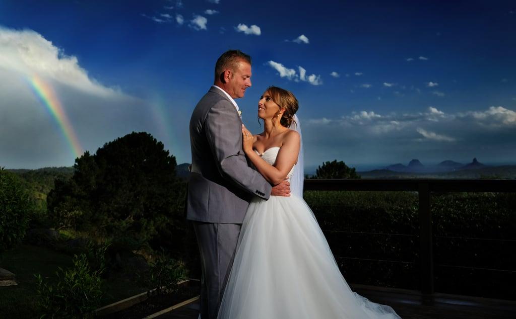 Groom Blindfolds Wedding Guests For Blind Wife Popsugar Family