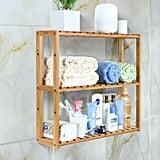 HOMFA Bamboo Bathroom Shelf 3-Tier Multifunctional Adjustable Layer Rack