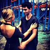 Lara Bingle congratulated Christopher Esber after his show. Source: Instagram user mslbingle