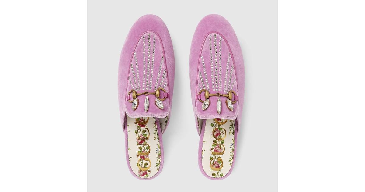 cbc68e246 Gucci Princetown Velvet Slipper With Crystals | Best Gucci Shoes 2018 |  POPSUGAR Fashion Australia Photo 3