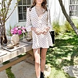 Kaia Wore a Sweet Polka Dot Dress With Combat Style Boots