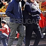 Jake Gyllenhaal wore a black baseball cap for a stroll around NYC with his pregnant sister Maggie Gyllenhaal.