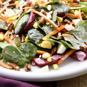 Fast & Easy Dinner: Loaded Spinach Salad
