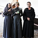 Septa Unella, Cersei Lannister, and Qyburn