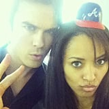 Kat Graham snapped a photo with her Vampire Diaries costar Ian Somerhalder.  Source: Instagram user katgrahampics