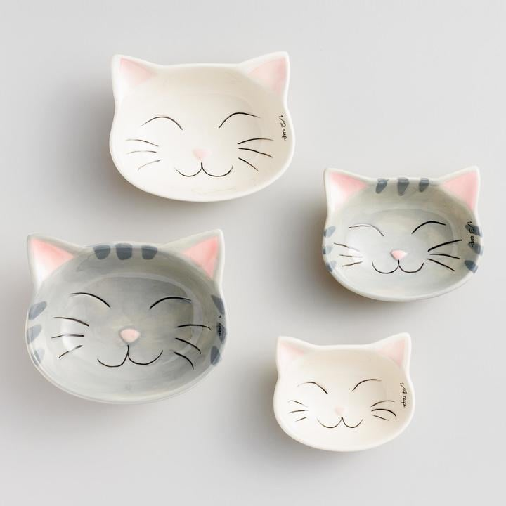 Cat Ceramic Measuring Cups ($13)